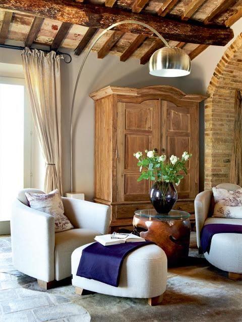 una casa de campo en la toscana italiana