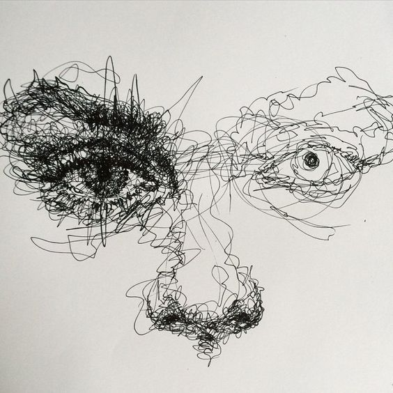 Scribble Drawing Uk : Scribble art to make your home and office look awesome