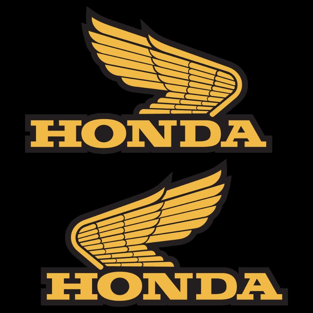 hondagoldwinglogodecalstickervector Motocicletas