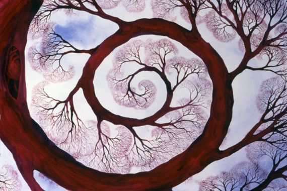 Sacred Spiral limited edition giclee print of an original watercolor