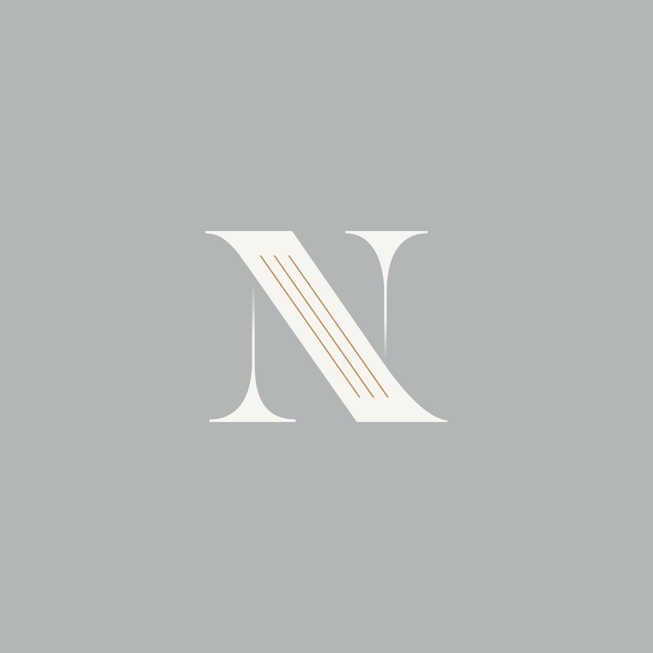 Letter N Monogram Tinaperkodesign Minimal Elegant N Logo Design Photography Logo Design Letter Logo Design