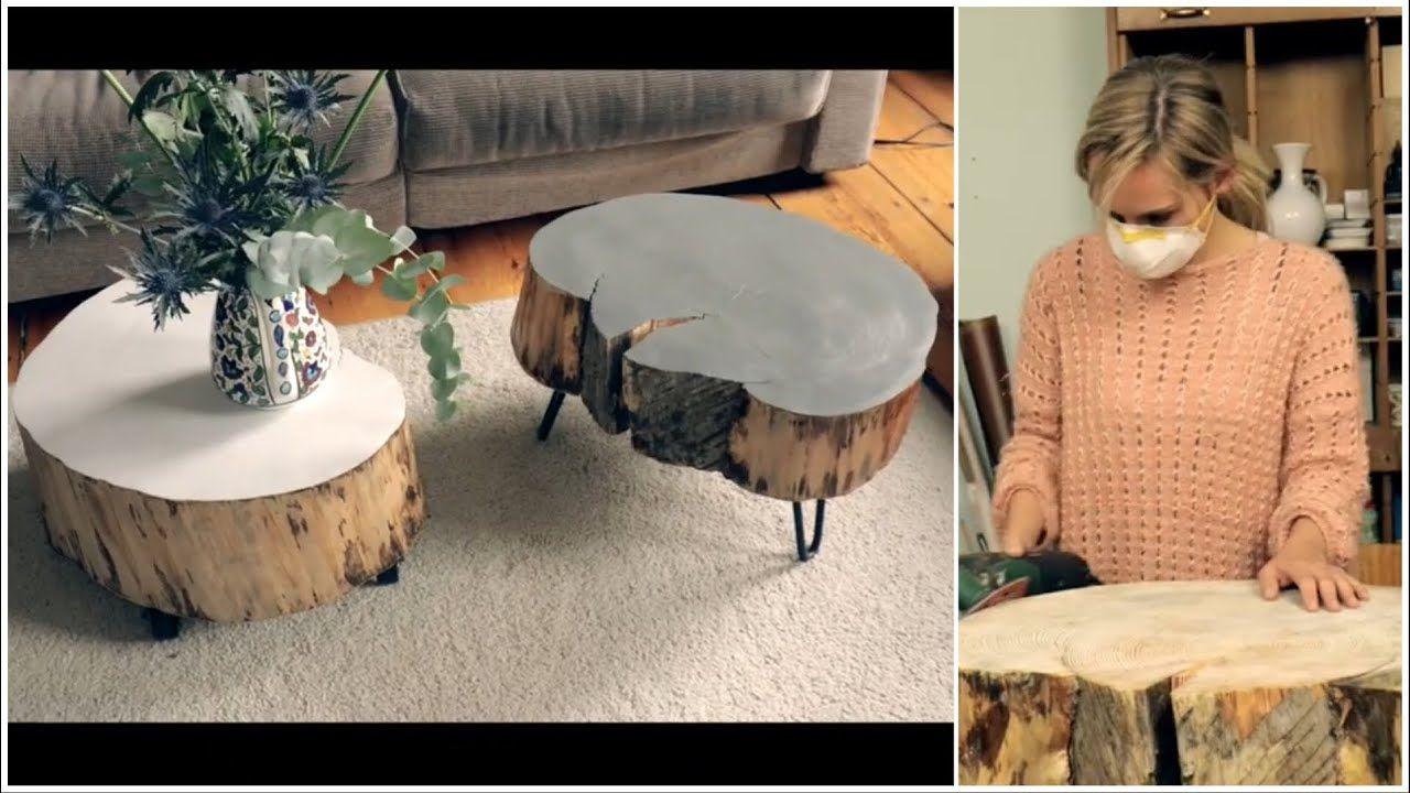 Tisch Aus Baumscheibe Selber Machen Youtube Baumscheiben Tisch