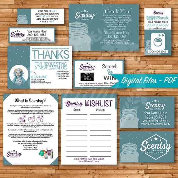 Authorized Scentsy Vendor Bundle - Independent Consultant Cards - sample cards