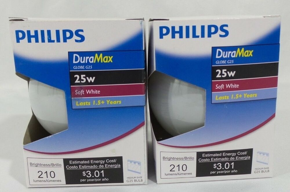 Philips 25g25 W Ll 120v 25w Soft White Vanity Light Bulb White G25 Medium Base Philips Vanity Light Bulbs White Vanity Philips