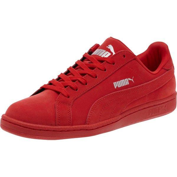 Puma Smash Buck Mono Trainers High Risk Red - Men's Shoes