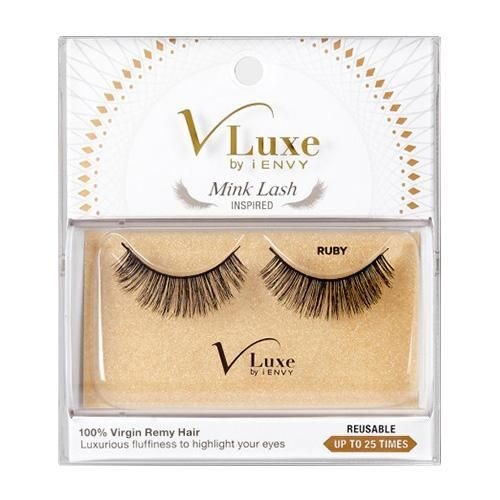 6b166fb6bdf V-LUXE I ENVY - VLEF05 RUBY - MINK LASH INSPIRED 100% VIRGIN REMY TAPERED  END STRIP EYELASHES BY KISS
