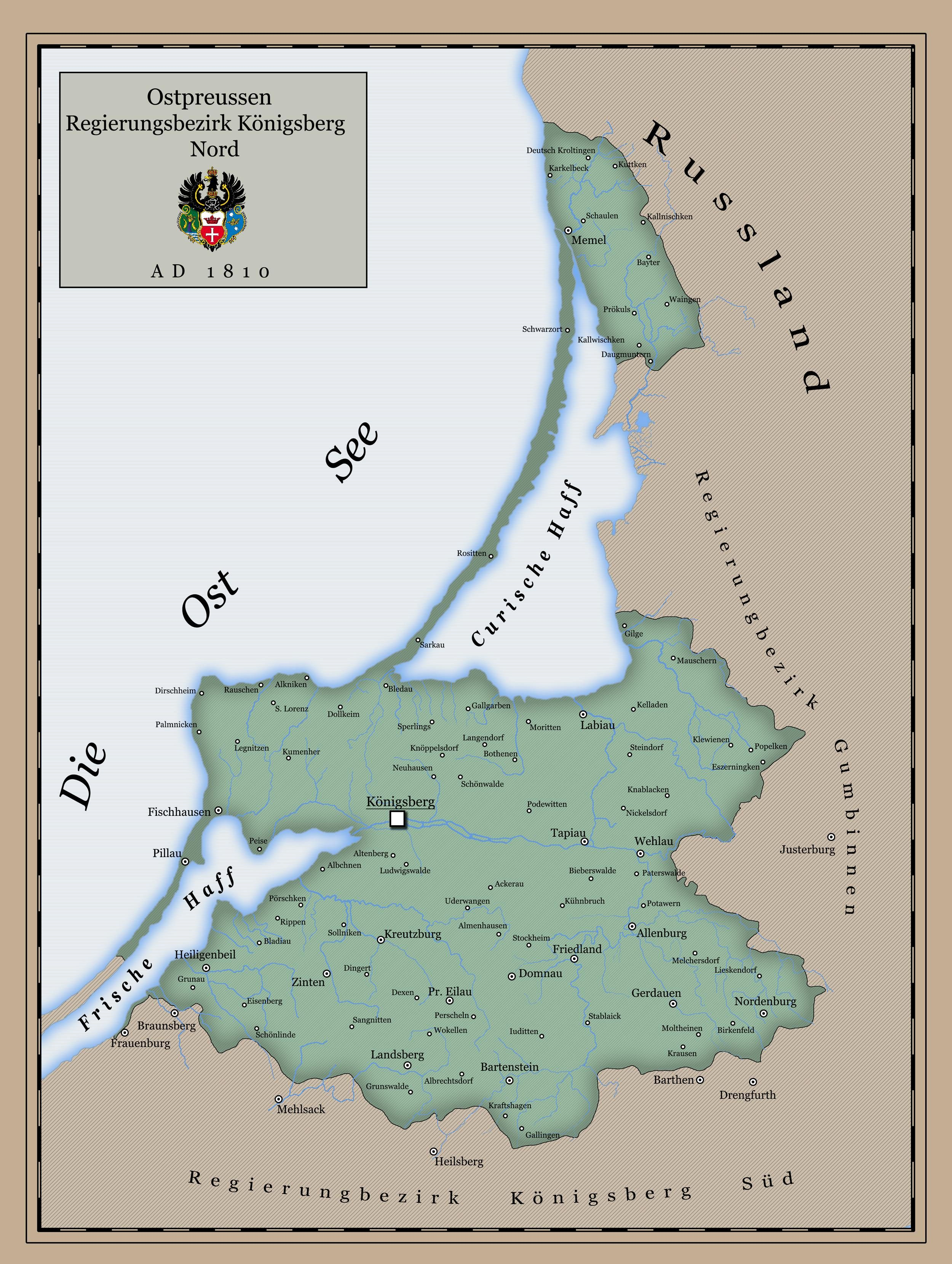 Ostpreussen,Regierungsbezirk Koenigsberg Nord 1810 | Places I'd Like on wwii europe map, air force europe map, post world war i map, world at war map europe, world map changes over time, school europe map, japan europe map, gdansk europe map, world war i europe map, all countries labeled europe map, risk game europe map, d day europe map, world war 1 timeline of events, world war ii, world war 1914 europe map, afghanistan europe map, western front 1944 map, war war 2 map, war vietnam on world map, hundred years war europe map,