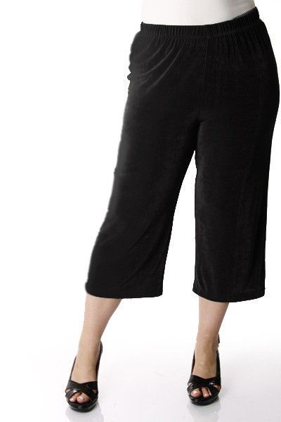 2457322b73 Vikki Vi Classic Black Crop Pant Stay cool without showing too much skin.  Plus size workwear.