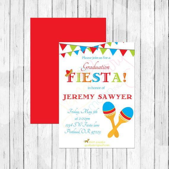 Fiesta theme graduation invitation or evite by lemonberrymoon fiesta theme graduation invitation or evite by lemonberrymoon stopboris Gallery
