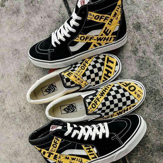 chaussure vans enfant jaune