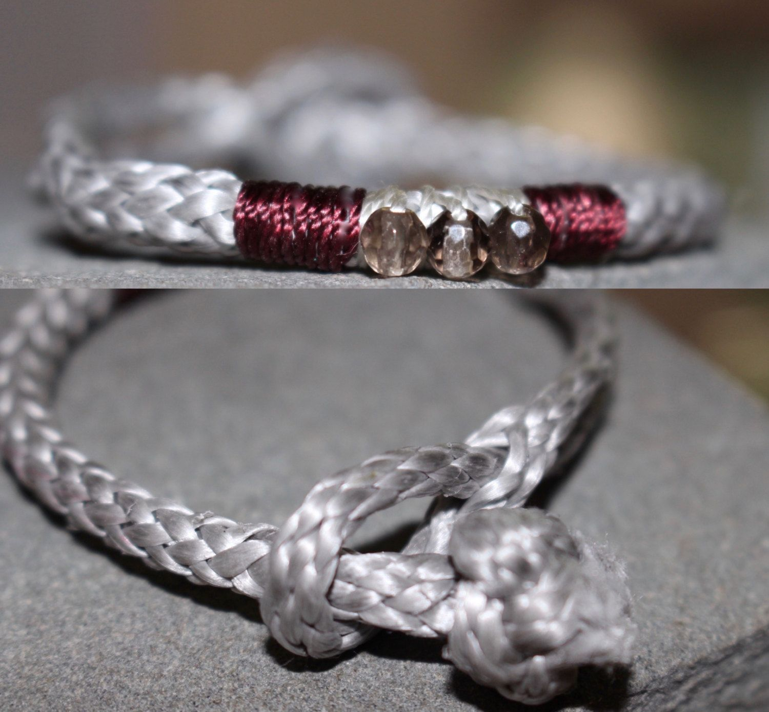 mens anchor paracord nautical pin bracelet rope