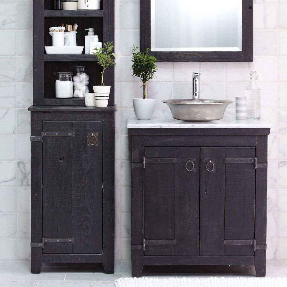 Americana Reclaimed Wood Bathroom Vanity Anvil Native Trails