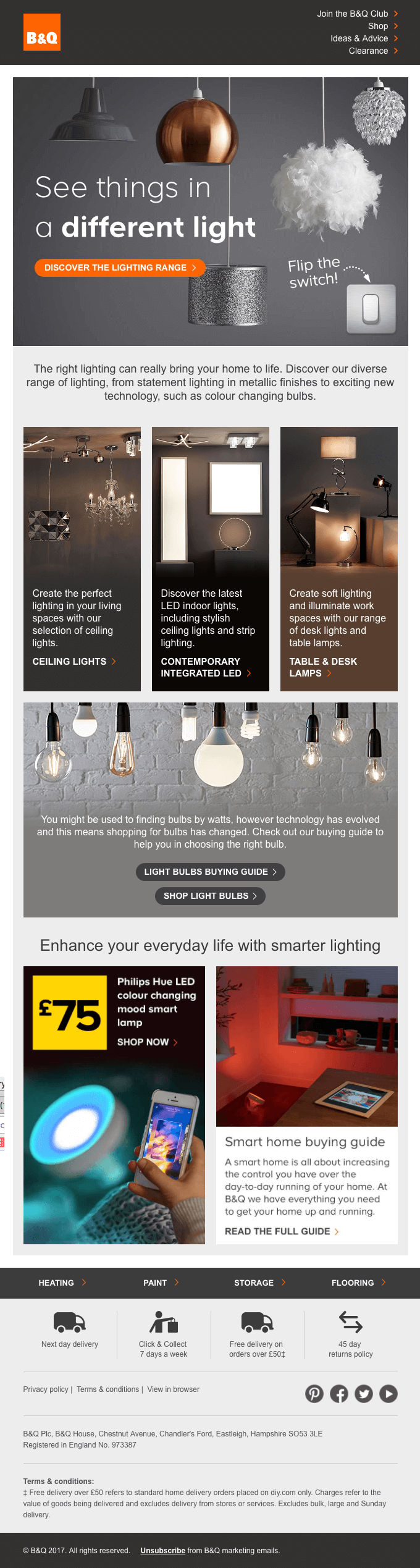 Say Hello To Autumn You Re Going To Appreciate Our Lighting Really Good Emails Email Design Best Email Email Design Inspiration