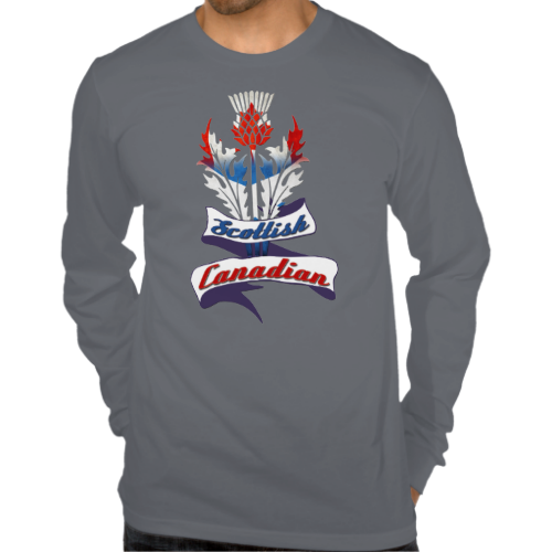 dccf50279 Scottish Canadian Thistle Long Sleeved Tee Shirts. To see this design on a  range of other products, please visit my store: www.zazzle.com/celticana*/  ...