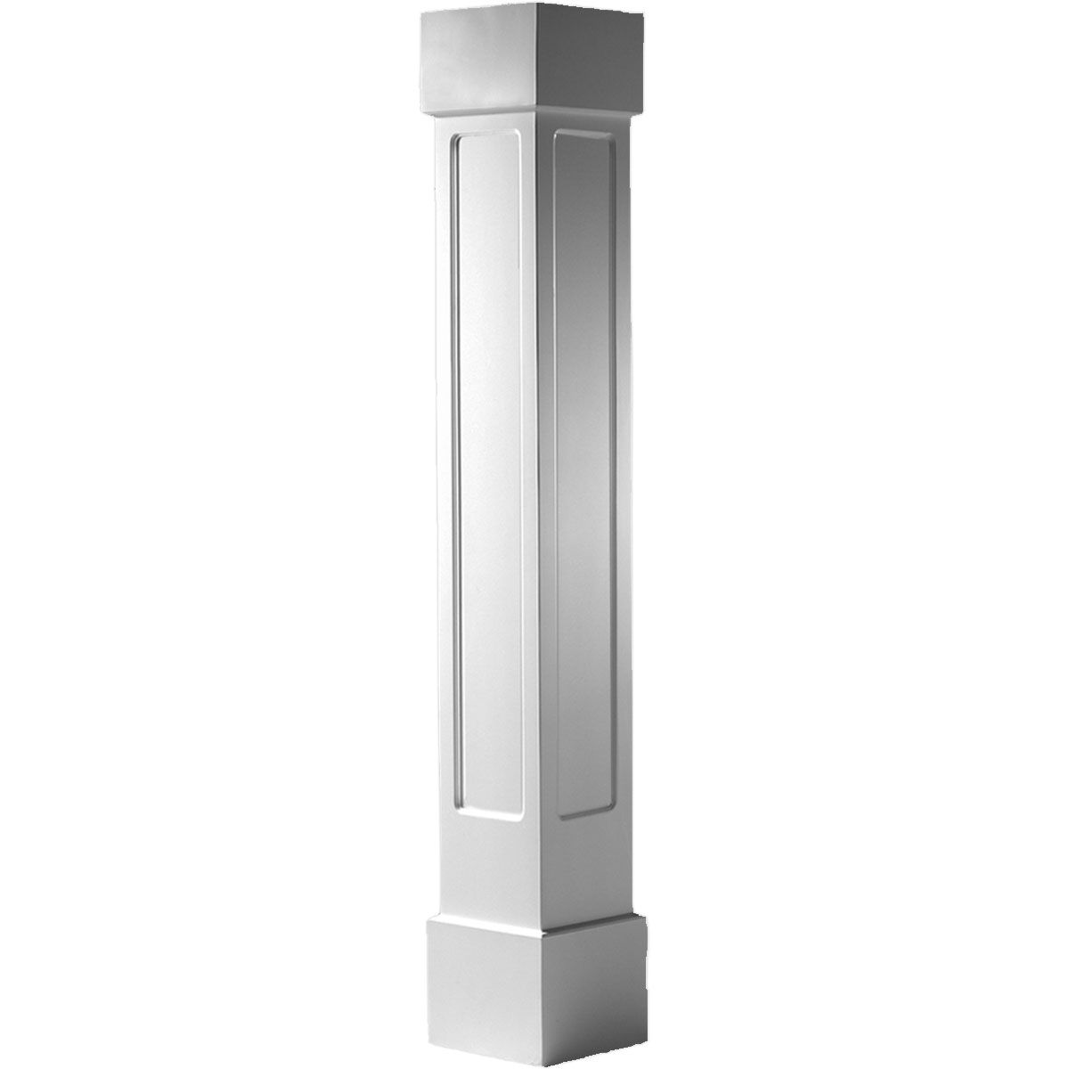 Craftsman classic square non tapered recessed panel column for Craftsman columns