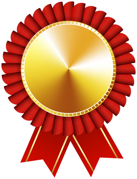 Rosette Ribbon Red Gold Transparent Image Red Gold Free Clip Art Certificate Design Template