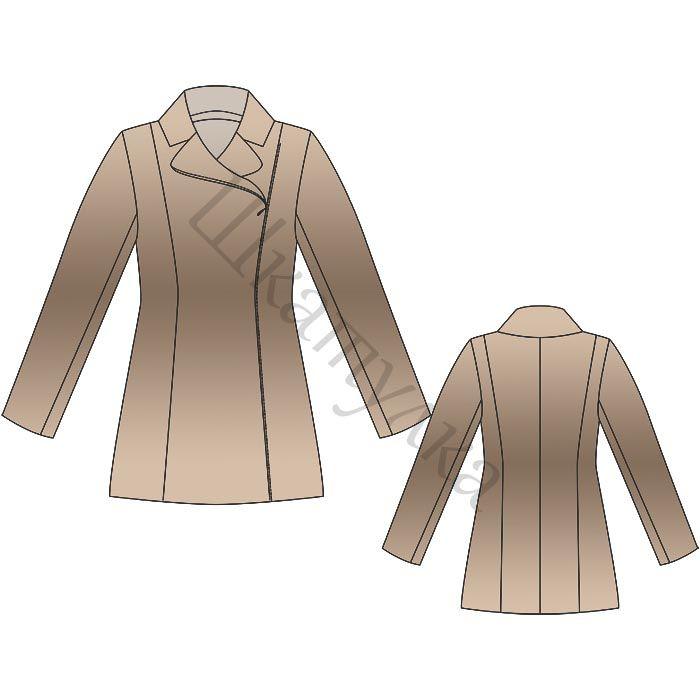 Выкройка пальто с косой застежкой | Куртки | Pinterest | Patrón ...