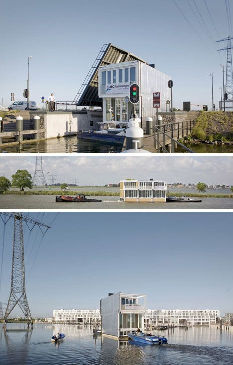 prefab floating homes houseboat neighborhood in holland homes rh pinterest com