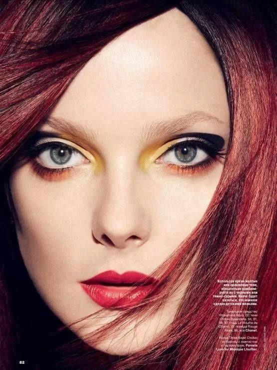 Mai kedvenc #smink - #makeup #EnikoMihalik by Walter Chin for Allure Russia August 2013
