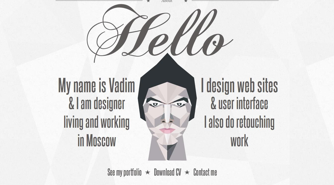 Madebyvadim   Single Page Web Designer Portfolio ( 25 Beautiful Portfolio  Website Designs?nidu003d