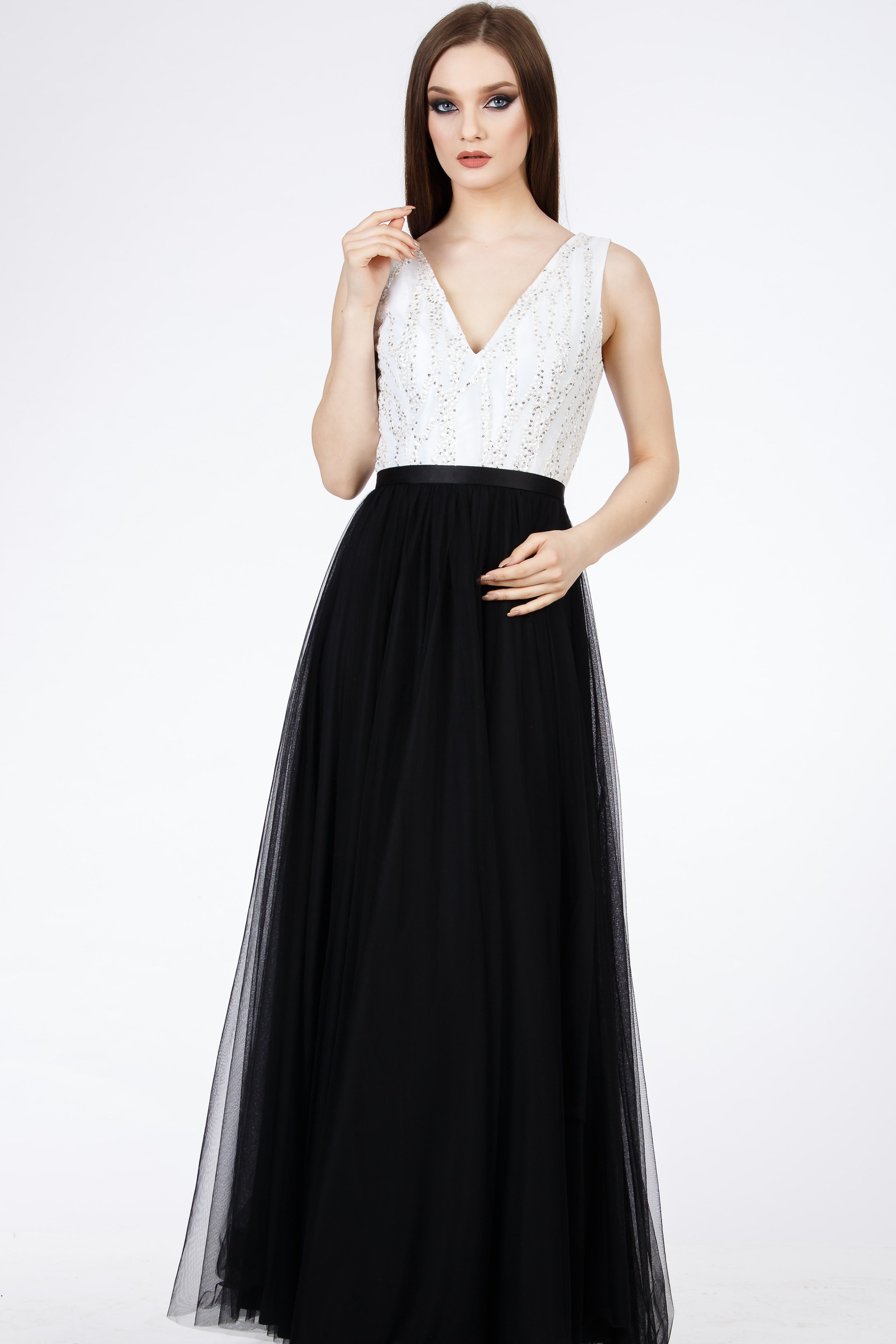 Tulle Dress Princess Dress Black And White Dress Elegant Dress