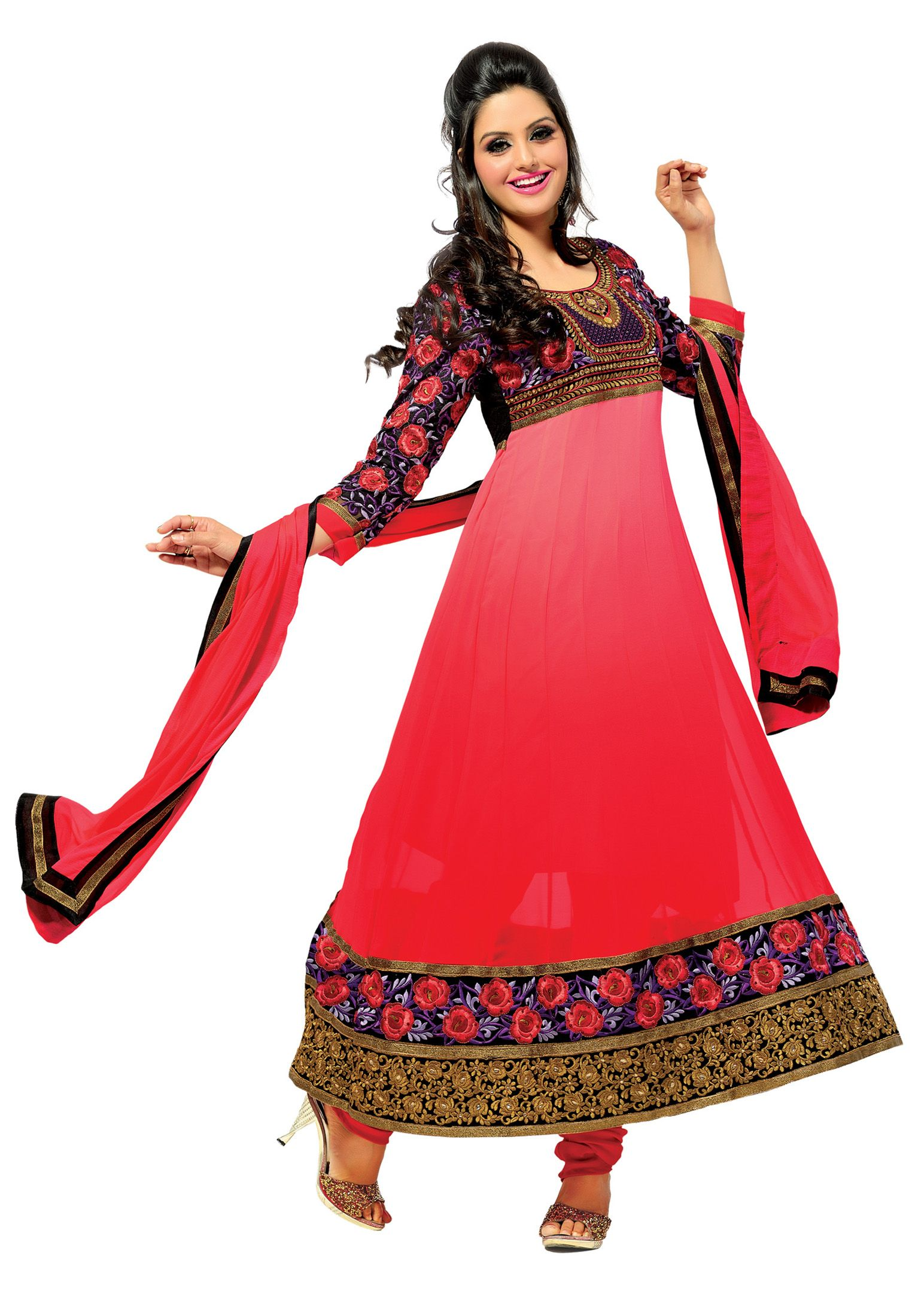 Exciting #Red Colored #Anarkali