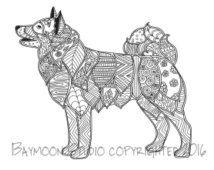 Popular Items For Husky Art On Etsy Dog Coloring Book Dog Coloring Page Horse Coloring Pages