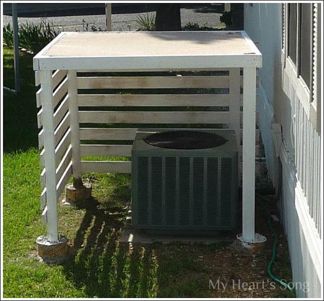 Heat Pump Shelter Shade A Guy S Diy Heat Pump Heat Pump