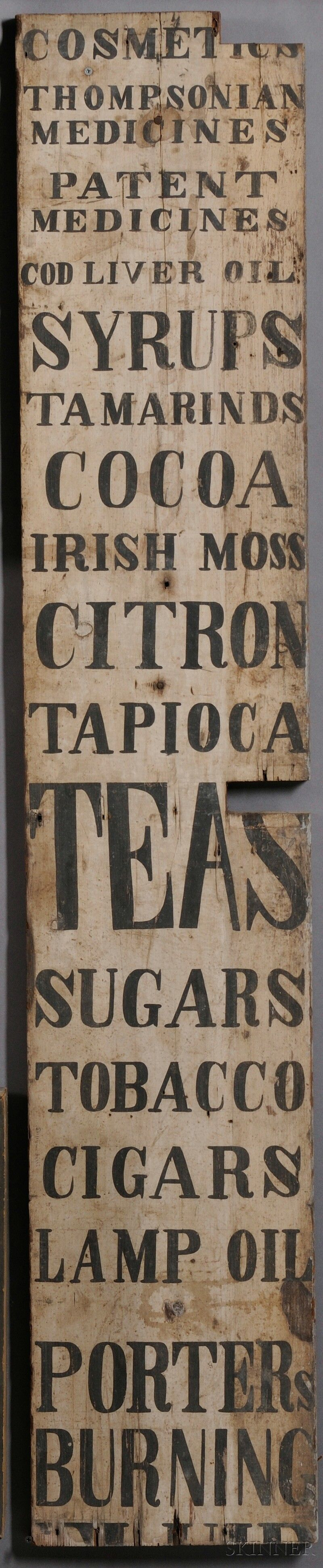 Poster design 19th century - 19th Century General Store Sign Www Fairfieldauction Com