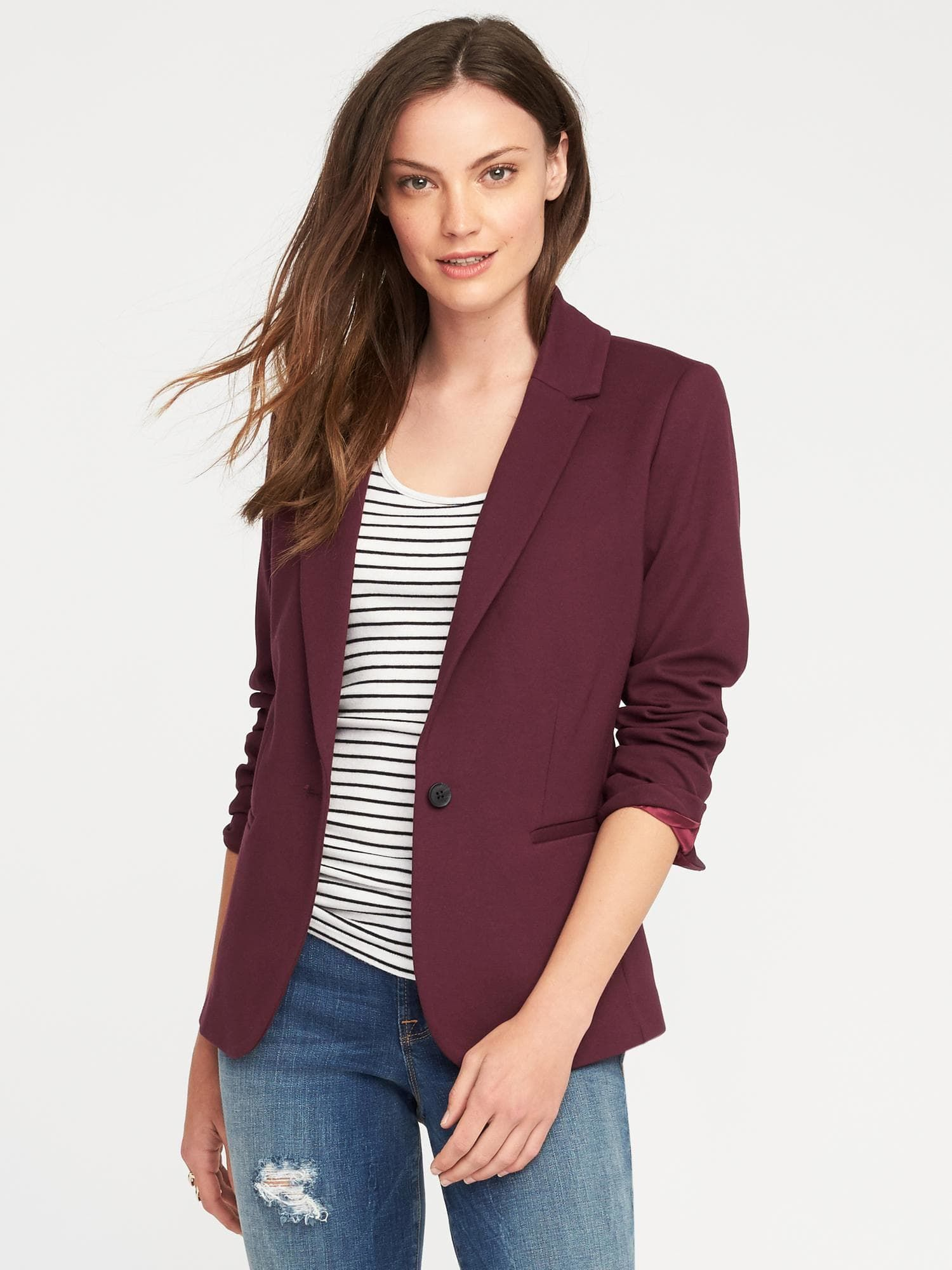 92acf550 Classic Ponte-Knit Blazer for Women in 2019 | My Style | Knit blazer ...