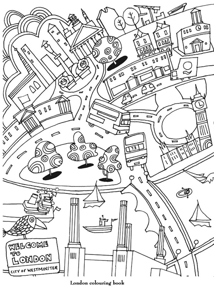 Coloriage Welcome To London English Lessons Coloriage Coloriage