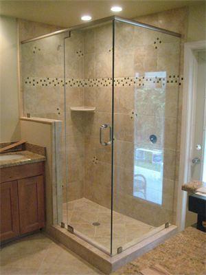 3 8 Frameless Clear Glass Shower Enclosure Bathroom Renovations Frameless Shower Enclosures