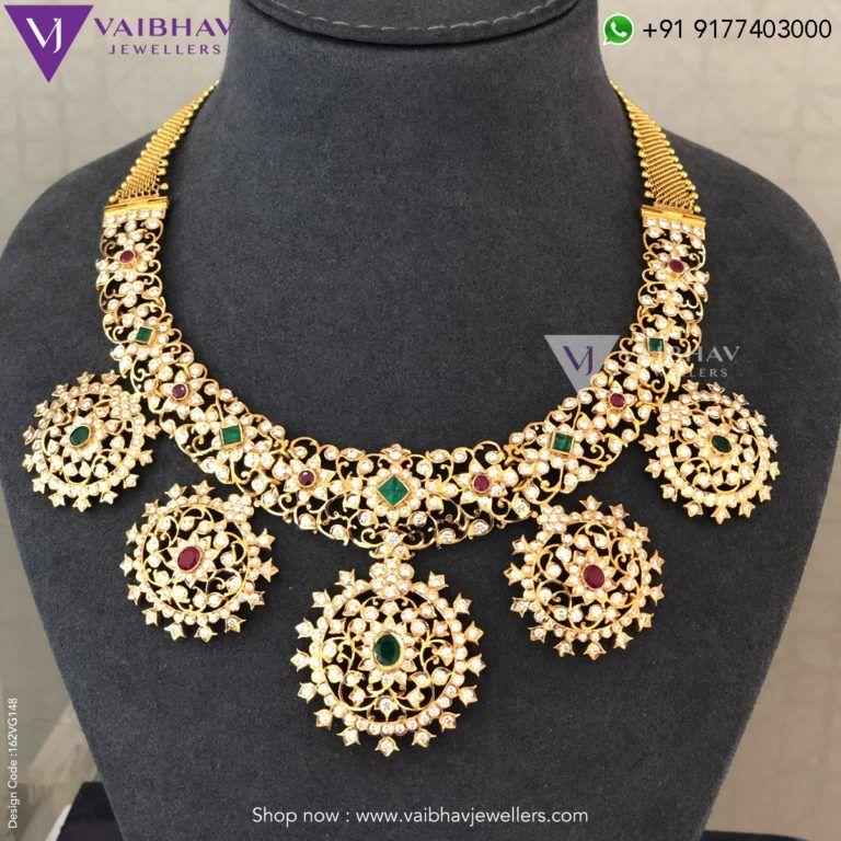 41f58d3d60240 Diamond Haram Designs by Vaibhav jewellers photo   Diamond Jewellery ...