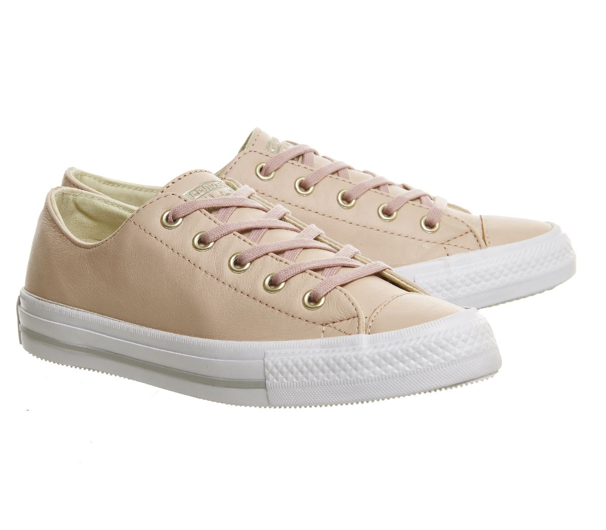 Converse Ctas Gemma Low Leather Trainers Evening Sand Gold - Hers trainers