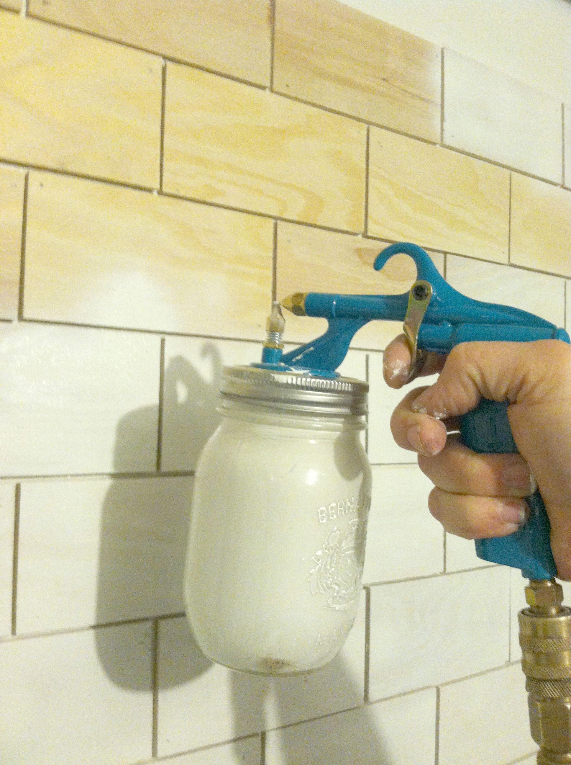 faux subway tile tutorial diy