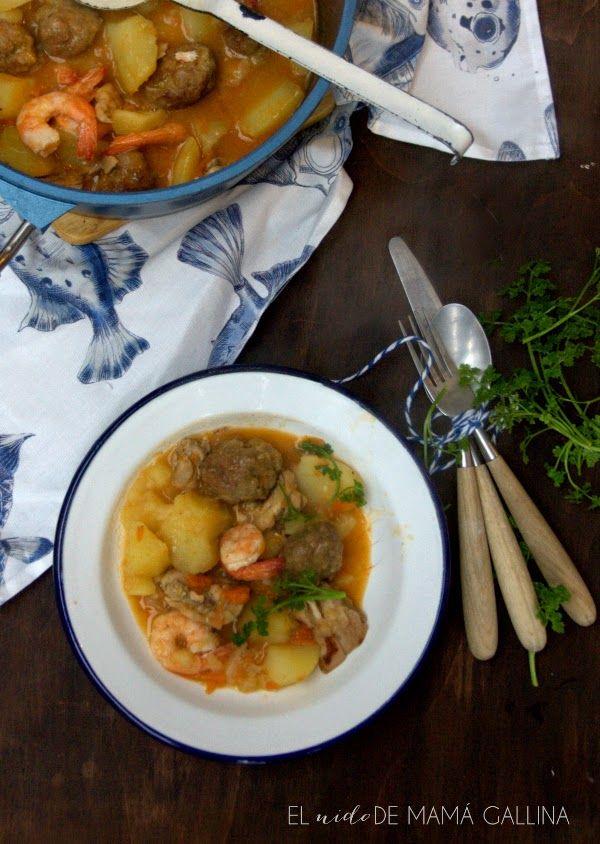 Guiso de patatas mar y montaña – Çorba Tarifleri