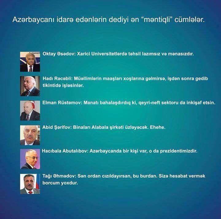 Azərbaycani Idarə Edənlərin Dedikləri ən Məntiqli Sozlər Blog Post Blog Posts Blog Post