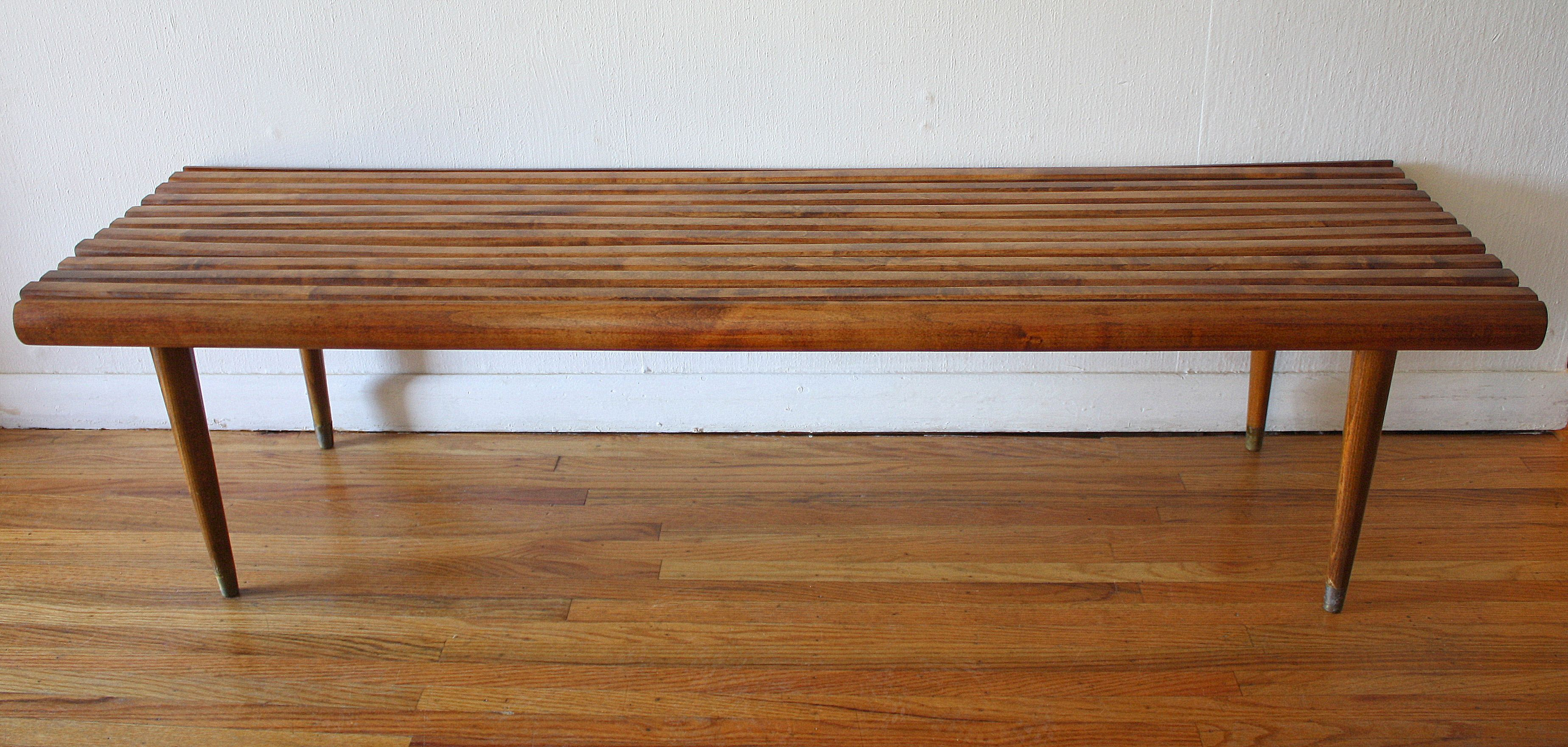 Mid Century Modern Slatted Bench Coffee Table Coffee Table Midcentury Modern Dining Table Modern Dining Table [ 1761 x 3695 Pixel ]