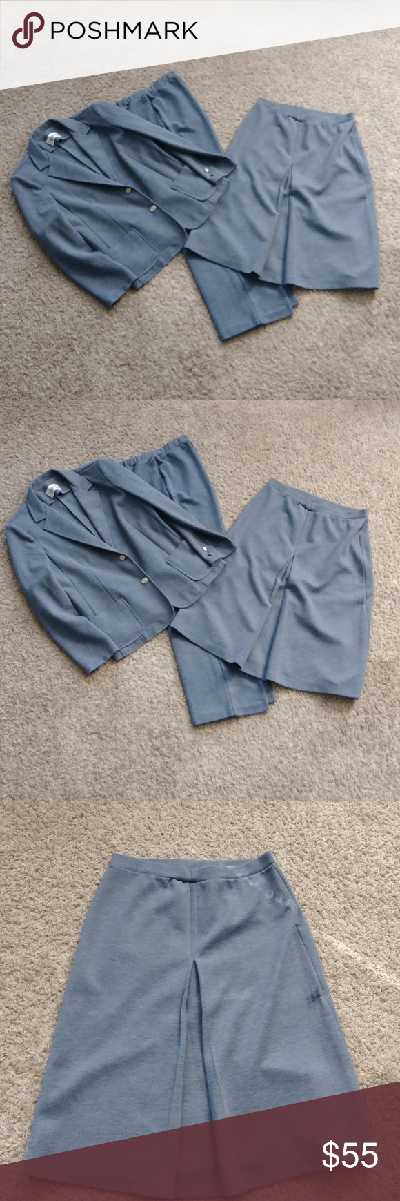 Vintage Cricket Lane Gray 3pc Suit Jacket Pants Skirt 1980/'s Women/'s Fashion Size 12 Made in USA ?