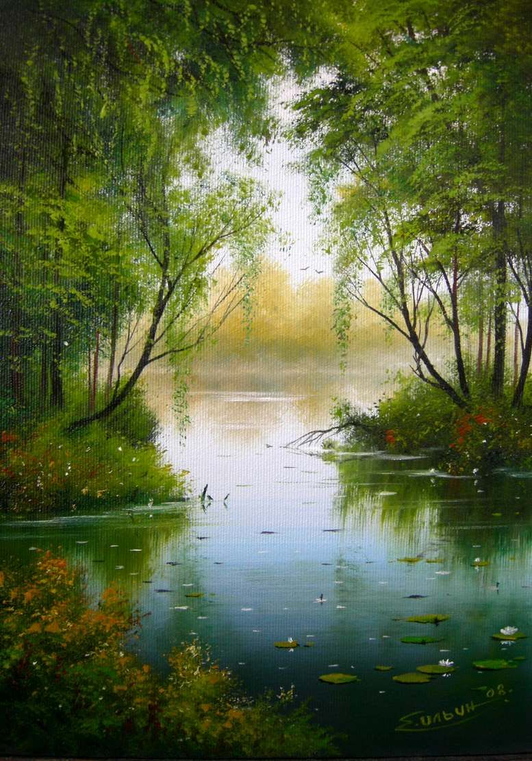 Pin By Marilyn King On Beautiful Lamdscapes Landscape Art Landscape Paintings River Painting