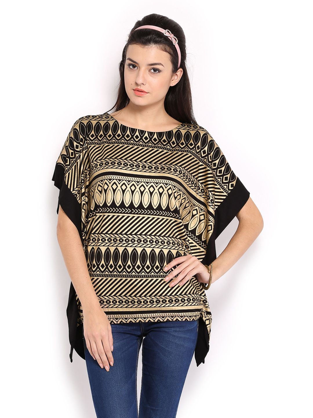 Buy Mirage Black Printed Top - 310 - Apparel for Women from Mirage at Rs. 779
