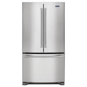 Maytag 20 Cu Ft French Door Refrigerator In Fingerprint Resistant Stainless Steel Counter Depth Mfc2062fez French Door Refrigerator French Doors Counter Depth French Door Refrigerator