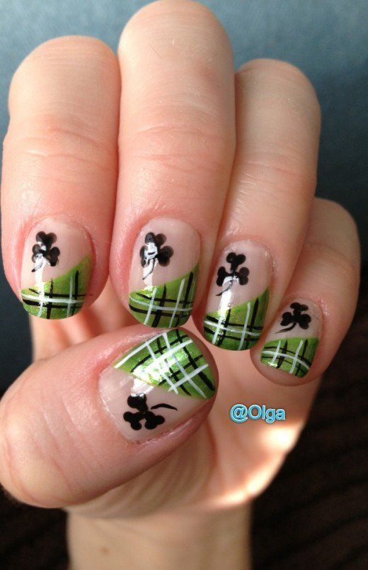 Saint Patrick\'s Day Nail Designs | Saints, Irish nails and Nail nail