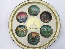 1970's Walt Disney World Serving Drink Metal Tray VINTAGE Rare