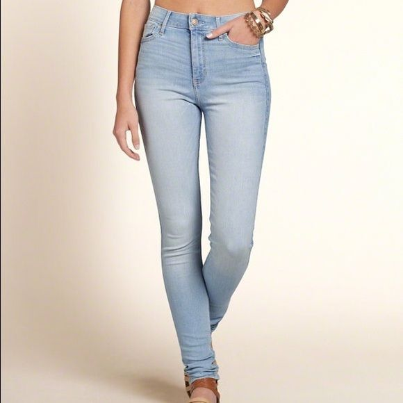 Hollister high rise skinny jeans Light wash super high rise skinny jeans Hollister Jeans Skinny ...