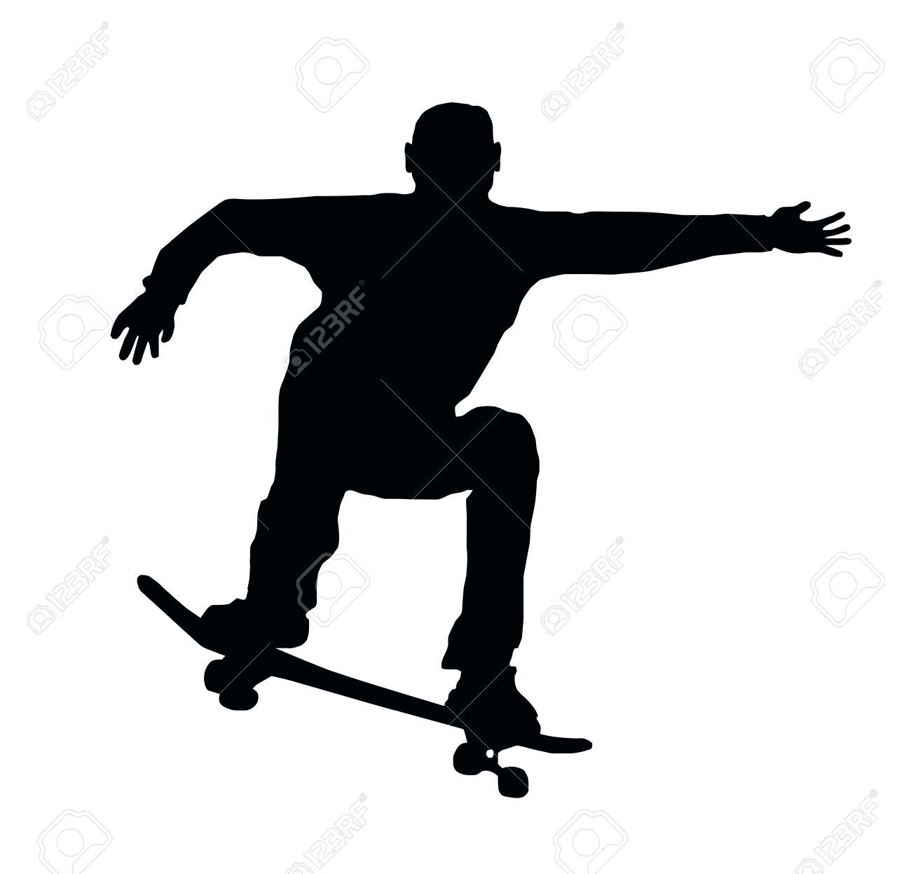 11426199-Skateboarding-Skater-do-Ollie-Jump-with-Board ...