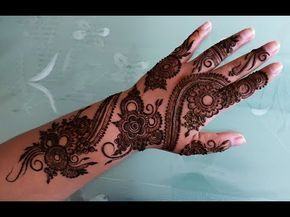Mehndi Diya Design : Bridal heena mehndi design eid special youtube beautiful