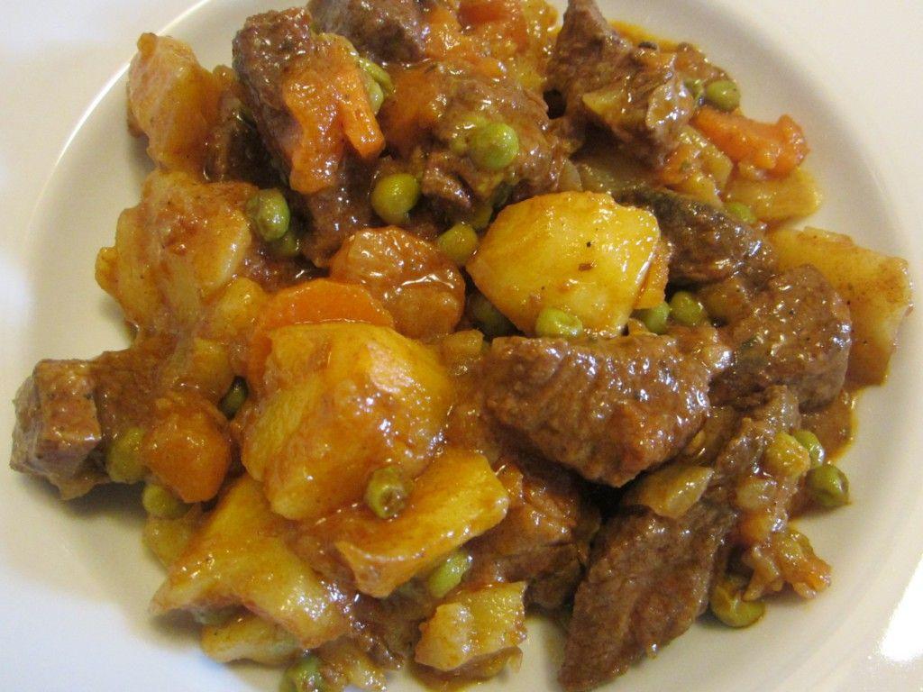 Estofado De Carne En Olla Exprés Receta Estofado Recetas Chilenas Comida Chilena