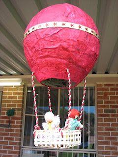 Papier-mâché Hot Air Balloons