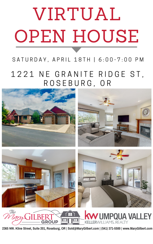 Virtual Open House In 2020 Open House Roseburg Granite Ridge
